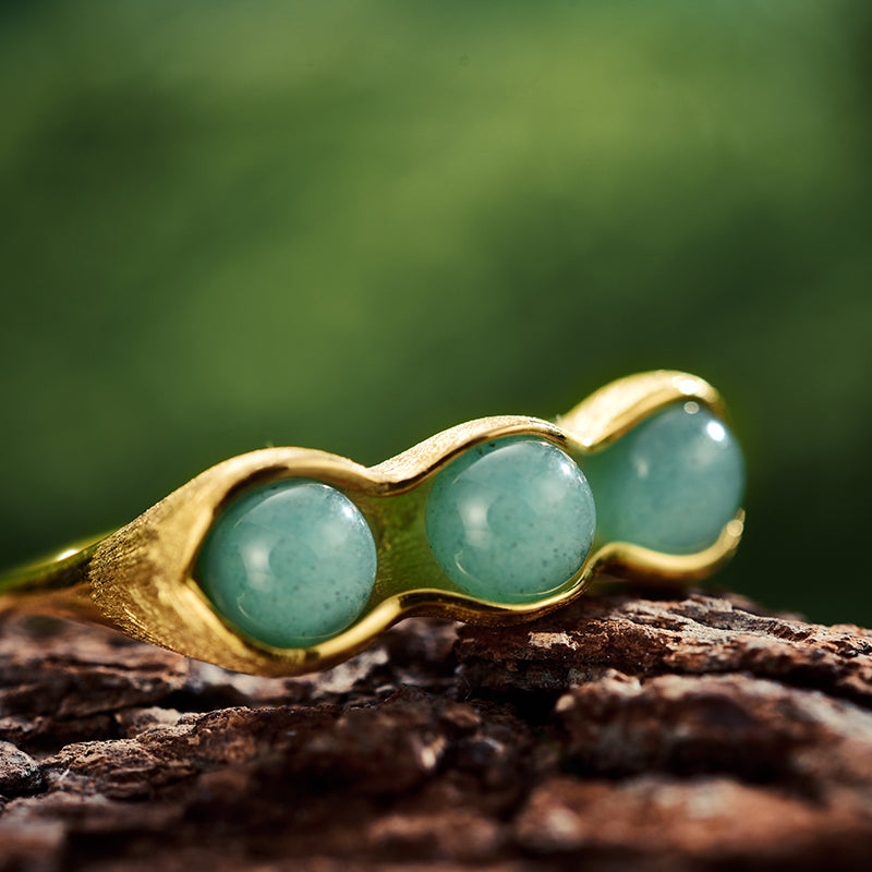 Lucky Peas - Handmade Ring | NEW - MetalVoque