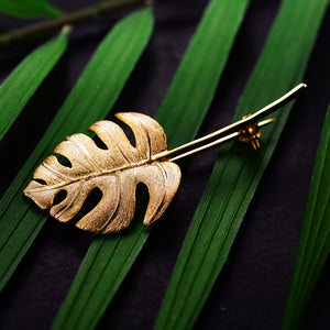 Monstera Petit - Handmade Brooch
