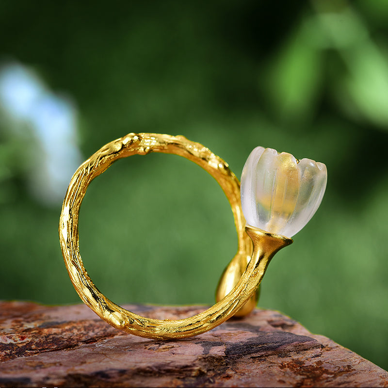 Valley Flower - Adjustable Ring - MetalVoque