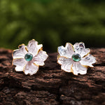 Tourmaline Leaf - Stud Earrings | NEW - MetalVoque