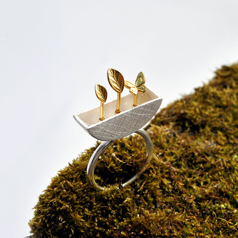 My Little Garden - Adjustable Ring - MetalVoque