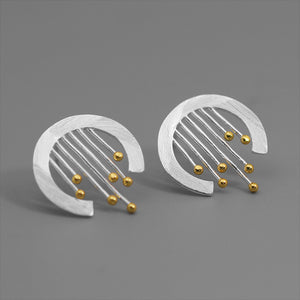 Curly Curtain - Stud Earrings | NEW
