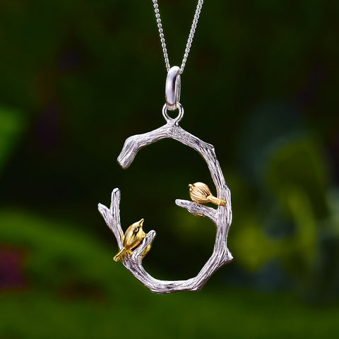 Bird Marriage - Handmade Pendant