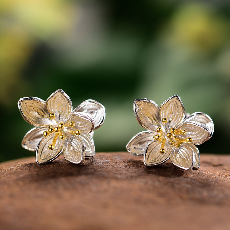 Whispering Lotus - Stud Earrings | NEW - MetalVoque