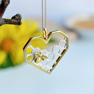 Honeycomb Guard - Handmade Pendant