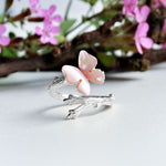 Resting Butterfly -  Handmade Ring