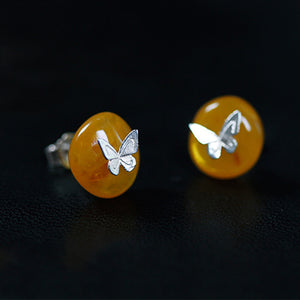 Butterfly Lullaby - Stud Earrings | NEW - MetalVoque