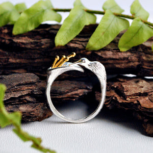Feeding Hummingbird - Adjustable Ring | New