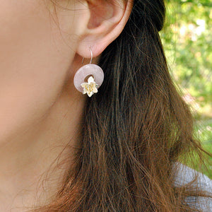 Whispering Lotus - Handmade Earrings | NEW - MetalVoque