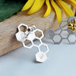 Honeycomb Guard - Stud Earrings