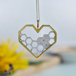 Honeycomb Guard - Handmade Pendant - MetalVoque