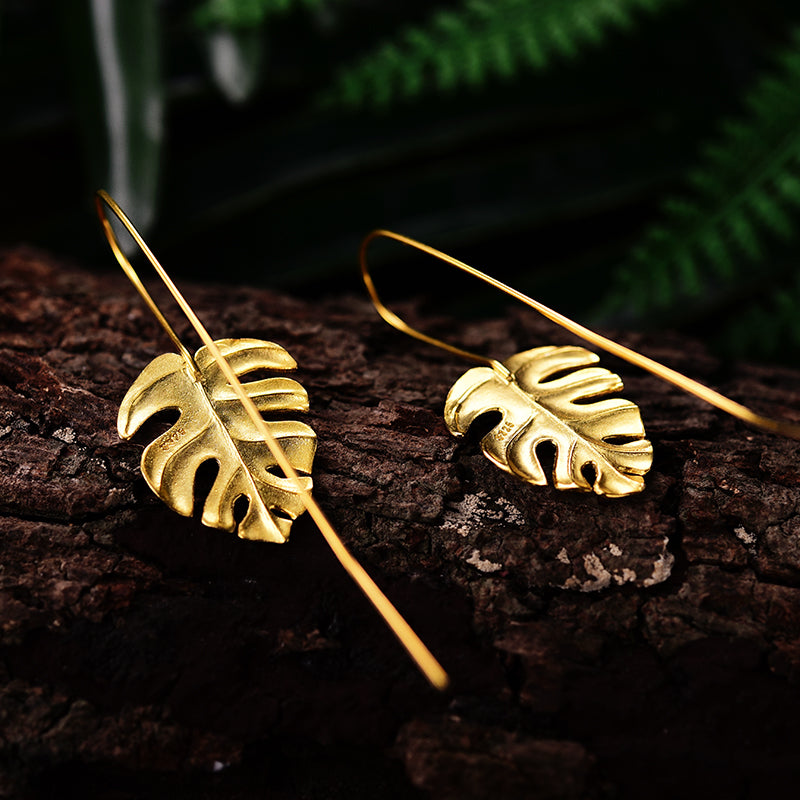 Monstera Petit - Handmade Earrings | NEW - MetalVoque