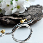 Bird's Marriage - Adjustable Ring - MetalVoque
