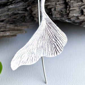 Ginkgo Leaf - Dangle Earrings