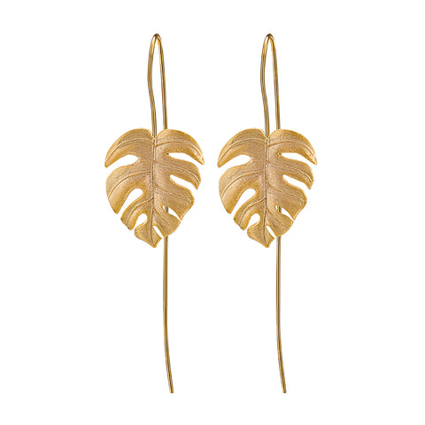 Monstera Petit - Handmade Earrings