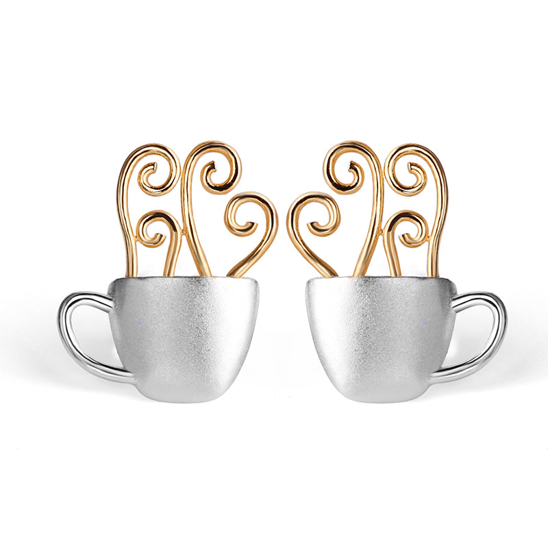 Morning Coffee - Stud Earrings - MetalVoque