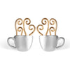 Morning Coffee - Stud Earrings | NEW - MetalVoque