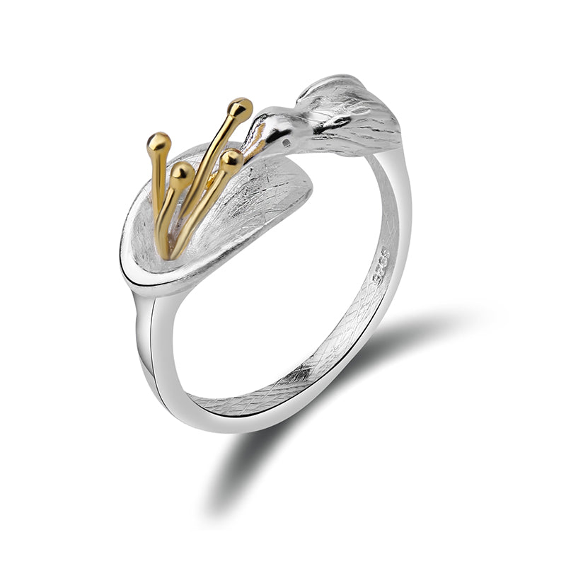 Feeding Hummingbird - Adjustable Ring | New - MetalVoque