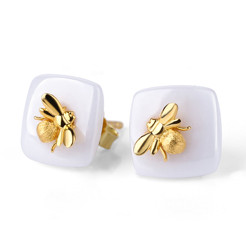 Bee Kiss - Stud Earrings - MetalVoque