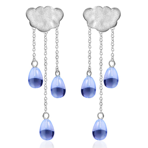 Rainy Cloud - Handmade Dangle Earrings