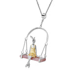 Swinging Bunny - Handmade Pendant - MetalVoque