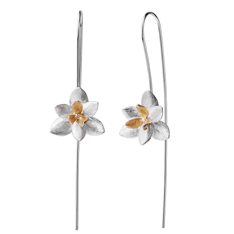 Blooming Flower - Dangle Earrings - MetalVoque