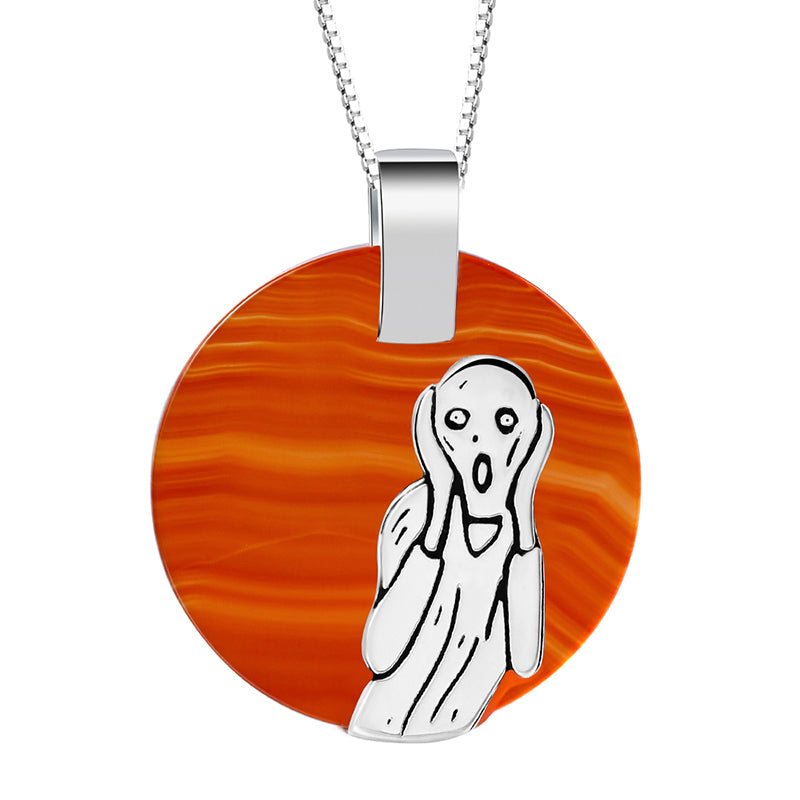 Agate Painting - Handmade Pendant | NEW