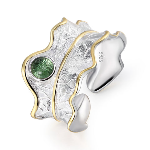 Tourmaline Leaf™ - Handmade Ring