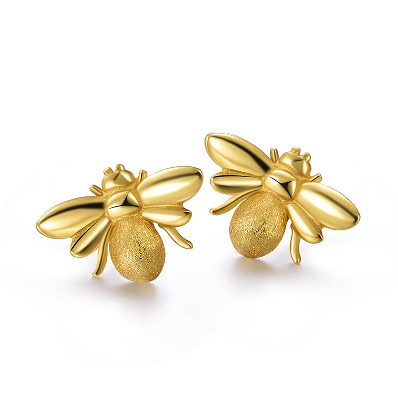 Cute Honeybee - Stud Earrings - MetalVoque