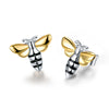 Lovely Honey Bee - Stud Earrings - MetalVoque