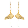 Ginkgo Leaf - Dangle Earrings - MetalVoque