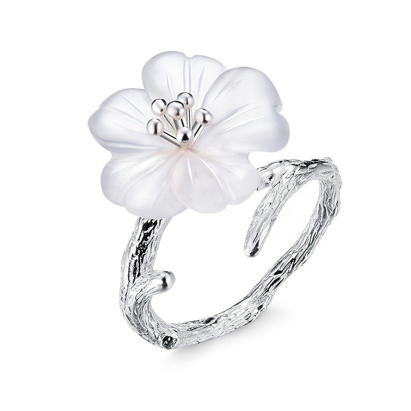 Rainy Flower - Adjustable Ring