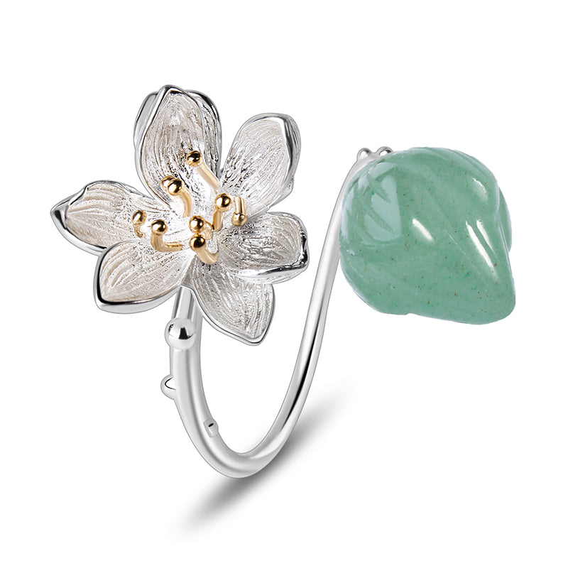 Whispering Lotus - Adjustable Ring