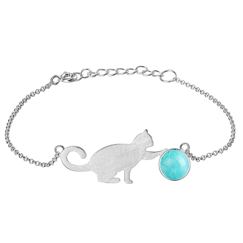 Playing Cat - Handmade Bracelet
