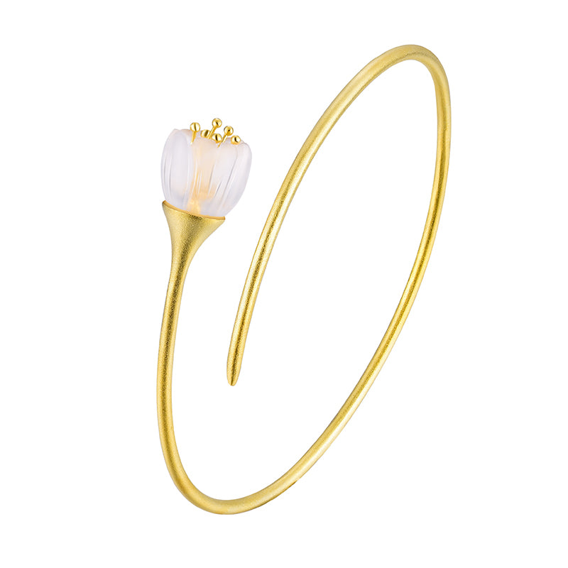 Valley Flower - Adjustable Bangle | NEW - MetalVoque