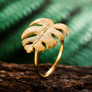 Monstera Petit - Adjustable Ring | NEW