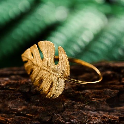 Monstera Petit - Handmade Ring