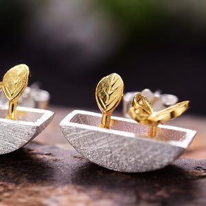 My Little Garden - Stud Earrings - MetalVoque