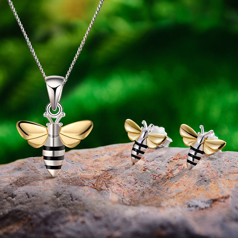 Lovely Honey Bees - Jewelry Set - MetalVoque