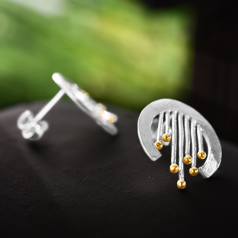 Curly Curtain - Stud Earrings | NEW - MetalVoque
