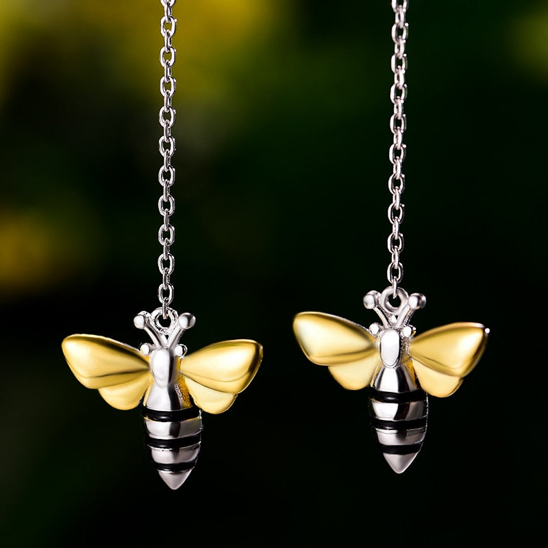 Lovely Honey Bee - Dangle Earrings | NEW - MetalVoque