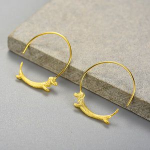 Run Dachshund Run - Hoop Earrings | NEW - MetalVoque