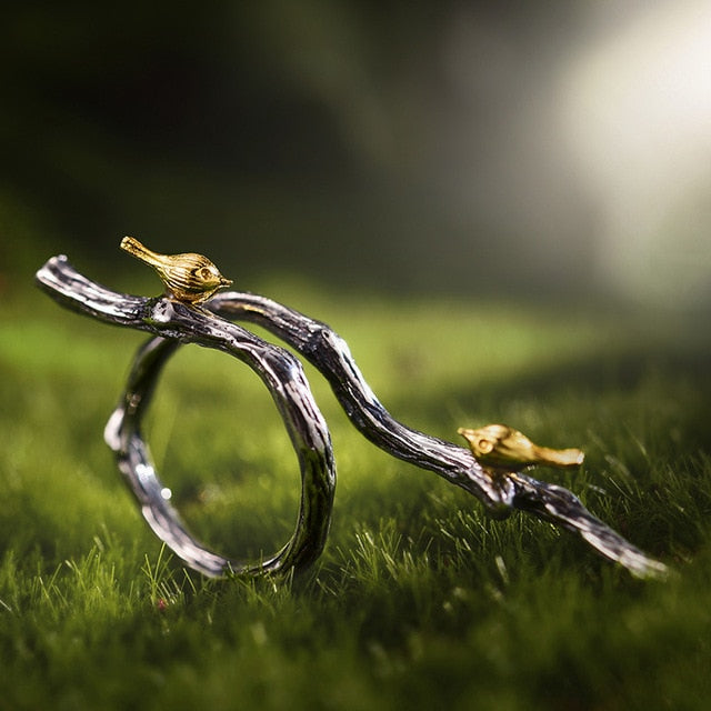 Bird's Marriage - Adjustable Ring