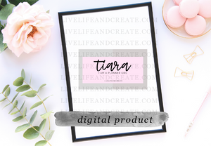 DIGITAL Custom name planner girl card