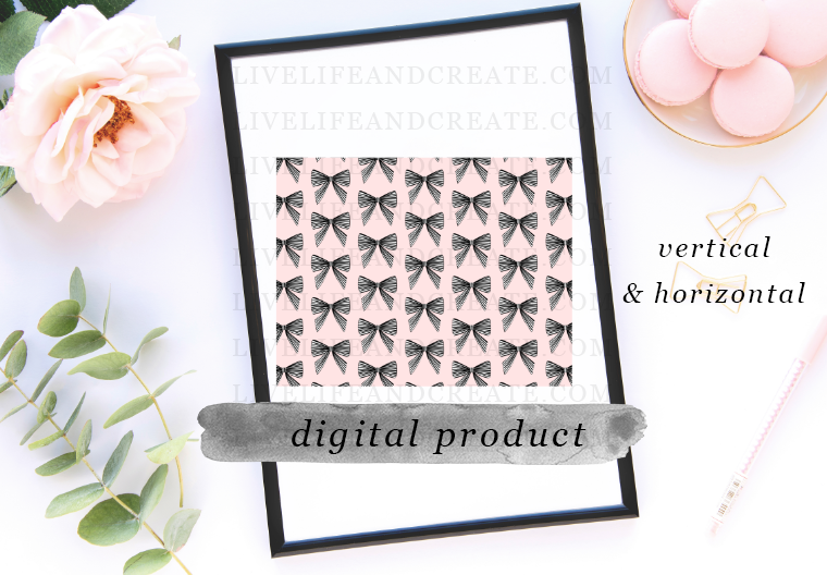 DIGITAL pink bow pattern