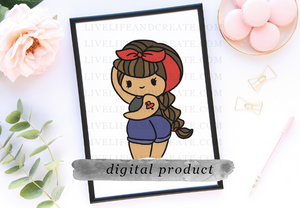 DIGITAL tan  rocker babe