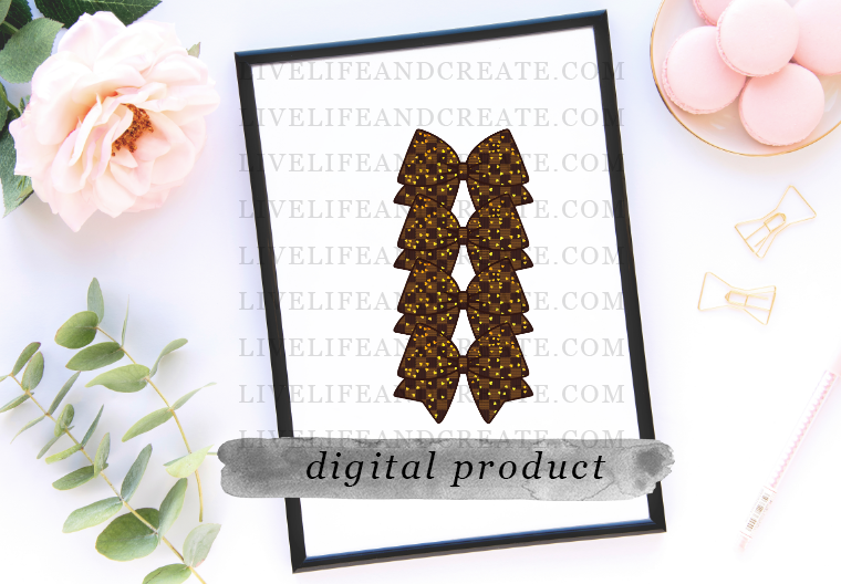 DIGITAL Bowmarker Brown Checkered Gold heart overlay 6