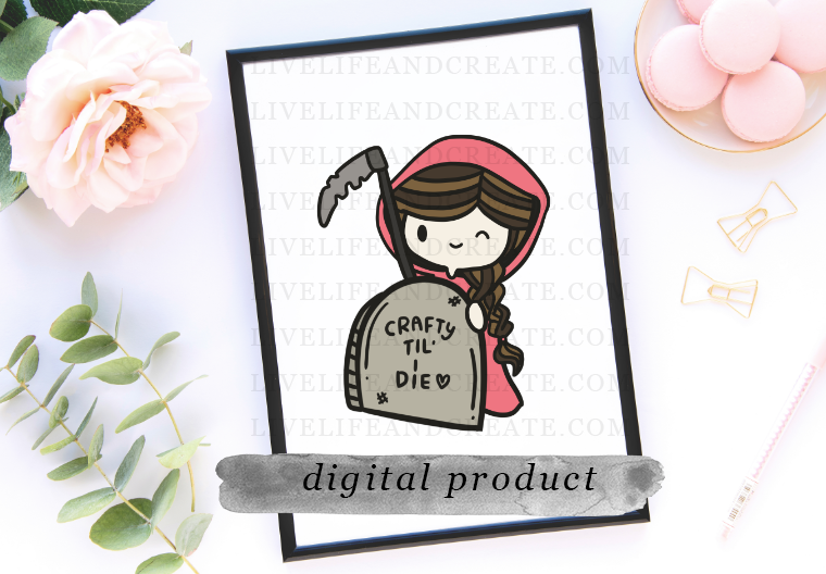DIGITAL fair girl grim reaper