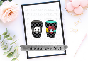DIGITAL: Jack and Sallie Checkered Cups