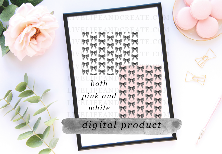 DIGITAL: both pink and black bow patterns